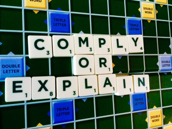 comply or explain, corporate governance code