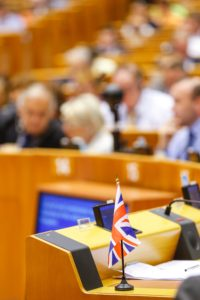Nigel Farage's Union Jack at the European Parliament. Photo: European Union