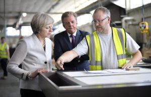 Theresa May visiting Martek Designs
