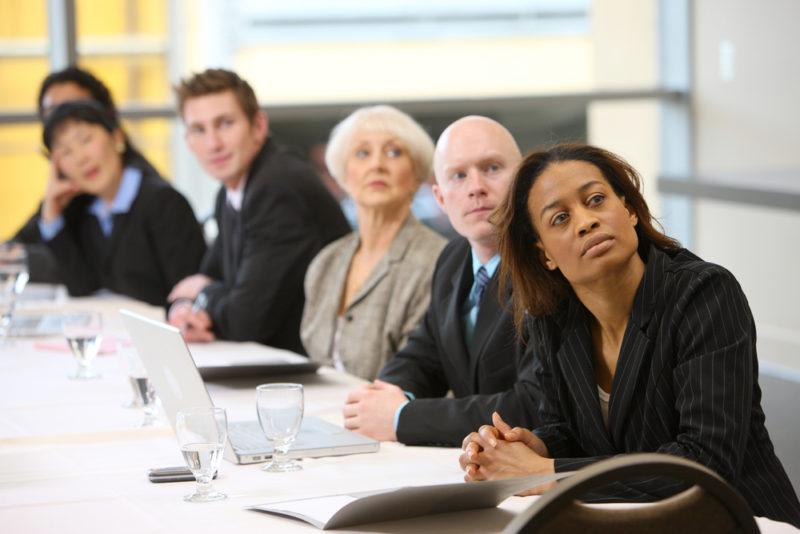 boardroom meeting, gender diversity, female executives