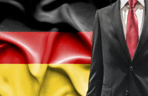 German flag, German businessman, German business