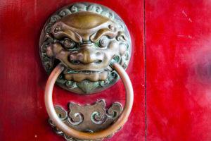 Far East: Asian door knocker