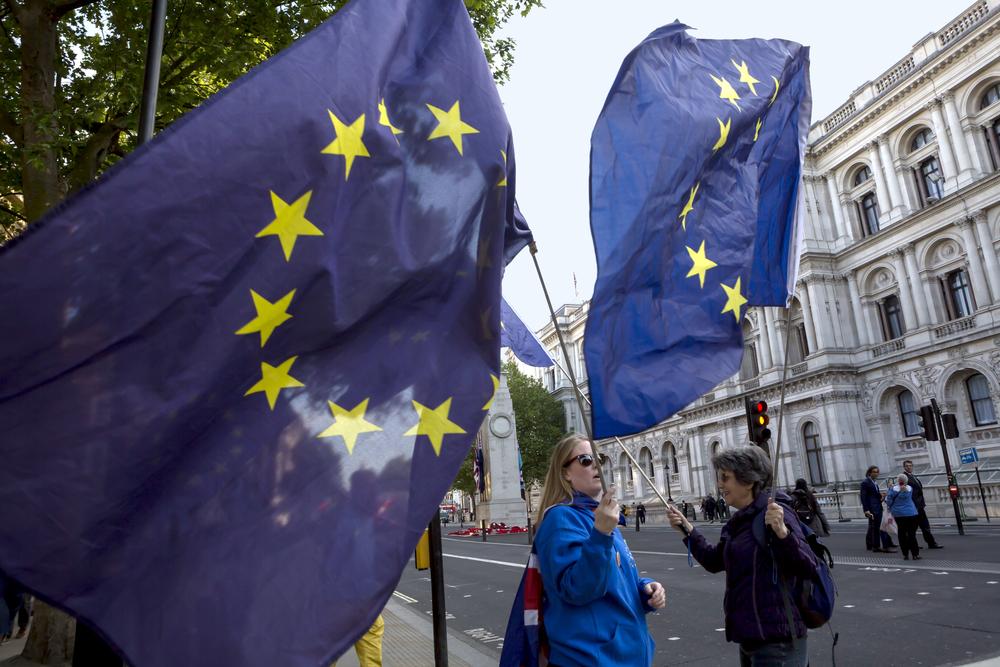Brexit, EU flag
