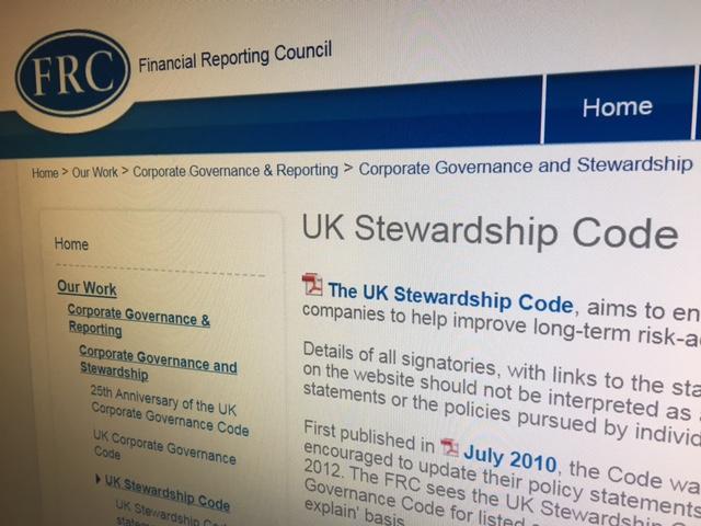 Stewardship Code, FRC website