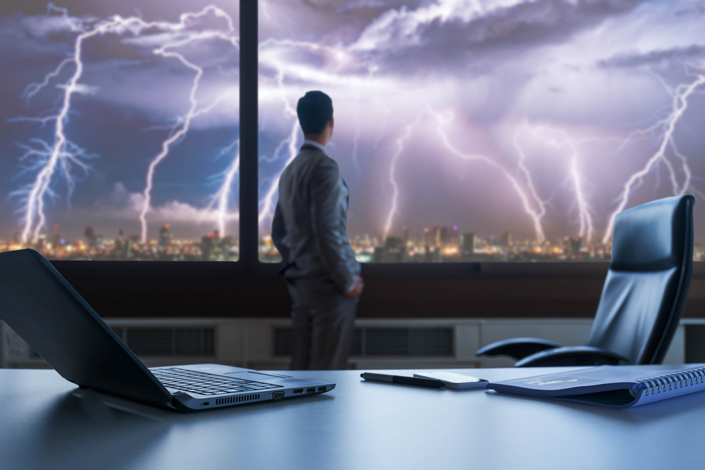 boardroom, businessman, digital business, digital storm