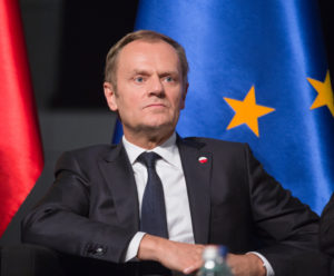 "Hard talk: Donald Tusk has the UK there only a ""hard Brext' option. Photo: Drop of Light / Shutterstock.com"