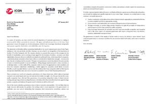 TUC Governance Letter