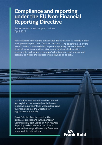 Compliance and reporting under the EU Non Financial