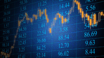trading screen, shares, stocks, equities, institutional investors