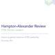 Hampton-Alexander Review