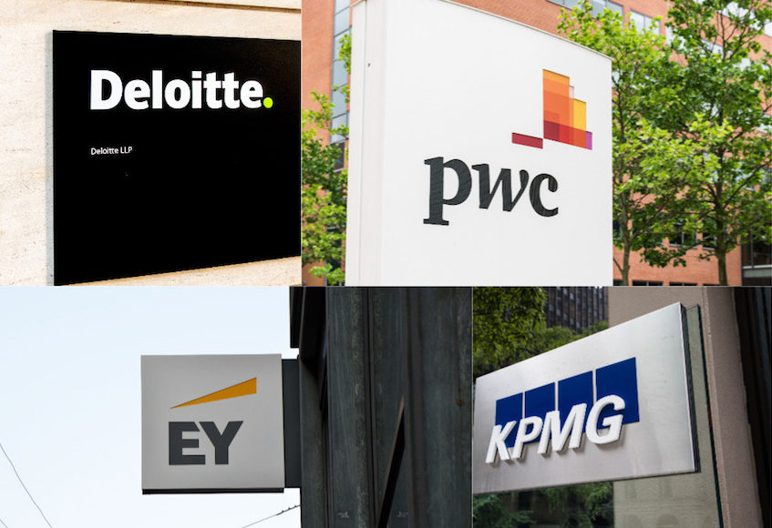 Big Four, PwC, Deloitte, EY, KPMG