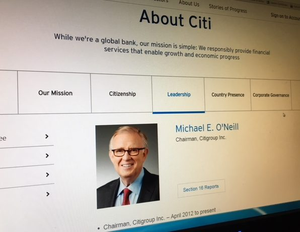 Citi, Michael O'Neil