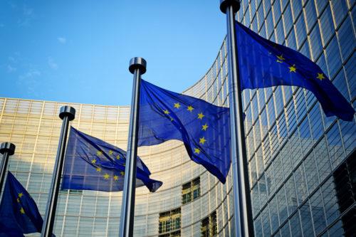EC, European Commission, EU, flags