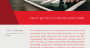 Seven Practices of Exceptional Boards, Diligent
