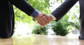 businessmen, handshake