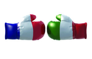 France, Italy, French flag, Italian flag, balloons