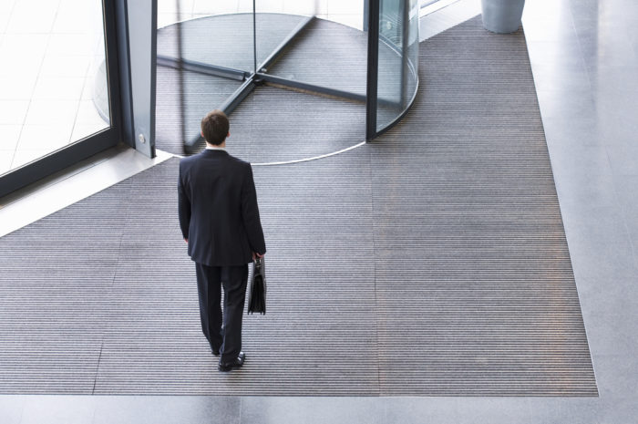 CEO walking towards the exit