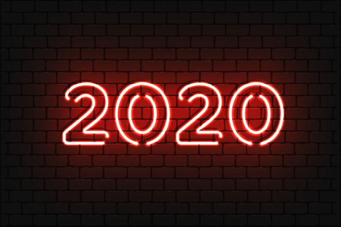 2020 sign