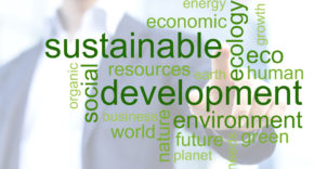 sustainable business word cloud, taxonomy of sustainable finance