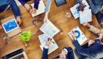 Diverse board members in boardroom