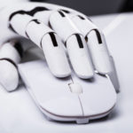 robotic hand on mouse