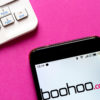 Boohoo website on smartphone