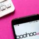 Boohoo website on smartphone
