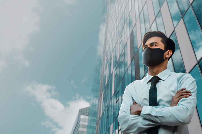 CEO in face mask