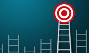 Ladder leading to target