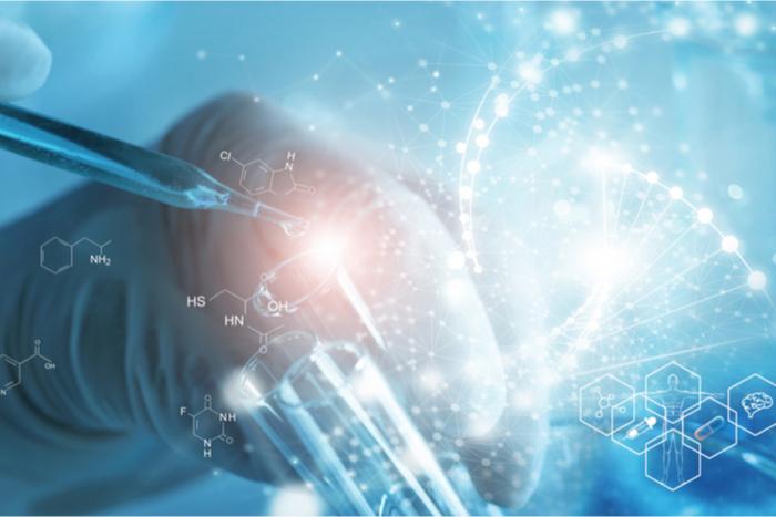 AI in a biotech lab