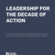 Leadership For The Decade Of Action report