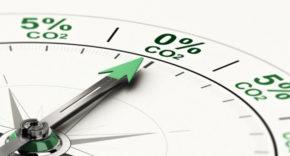 Compass showing net zero carbon target