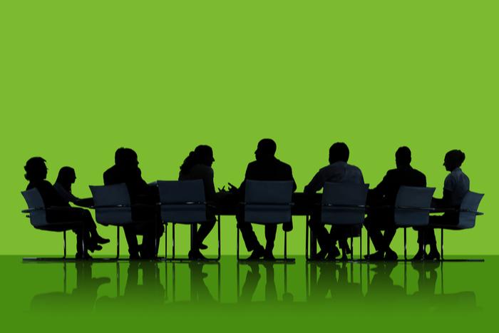 Board members discussing ESG
