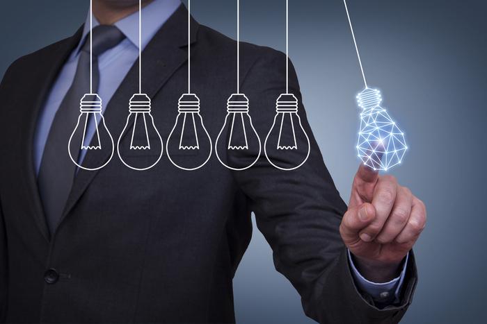Businessman chooses digital innovation