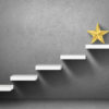 Steps leading to gold star