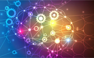 Brain showing AI in processes