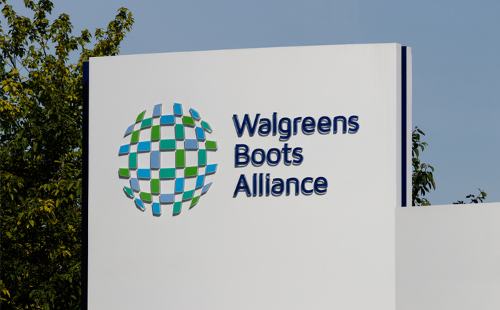 Sign at Walgreens Boots Alliance HQ