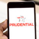 Prudential website on a smartphone