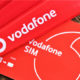 Vodafone logo and SIM