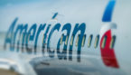 American Airlines plane with logo
