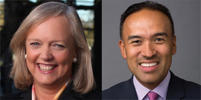 Meg Whitman and Mark Tatum, GM board directors