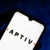 Aptiv logo on smartphone