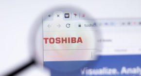 Toshiba logo on website