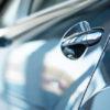 Close up of new car door