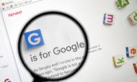 Website of Alphabet, Google's parent company