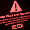 Alert from a ransomware attack