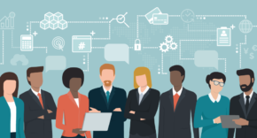 Diverse leadership team members
