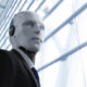Robot director in suit