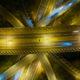UK motorway at night