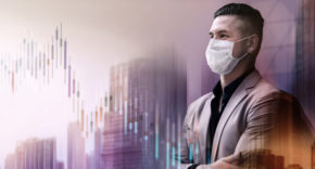 CEO wearing face mask